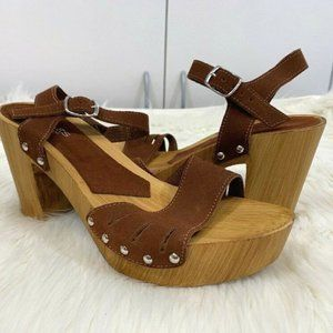 Charles CHARLES DAVID Suede LEATHER Platforms